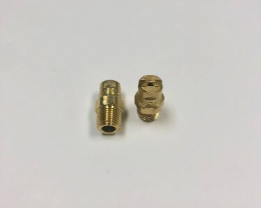 "Wide Angle Flat Spray Nozzle Tips 1/8"" NPT Thread"