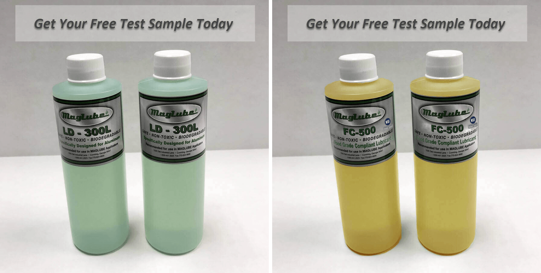 Free lubricant sample bottles